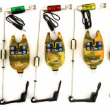 Avertizor pescuit - Set 4 Avertizori / Senzori Marca Oxygen Camou Si 4 Swingeri Lumino