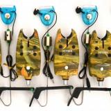 Avertizor pescuit - Set 4 Avertizori TLI 07 camou Marca Oxygen Si 4 Swingeri Lumino