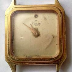 Ceas dama, Elegant, Mecanic-Manual, Placat cu aur, Analog, 1970 - 1999 - Ceas vintage de dama Kamatz Paris placat cu aur