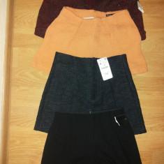 Pantaloni dama - Pantaloni scurti, din material gros pentru iarna, cu talie inalta