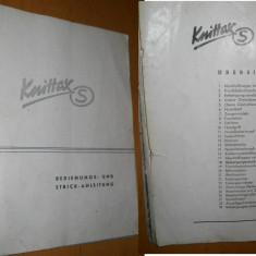 CARTE TEHNICA MASINA DE TRICOTAT KNITTAX S ( GERMANIA ) - Masina de cusut