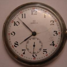 CEAS DE BUZUNAR-SWISS MADE- MARCA OMEGA- DE ARGINT- IN FUNCTIUNE. - Ceas de buzunar vechi