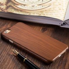 Husa / Carcasa Iphone 6 / 6S imitatie lemn, Maro