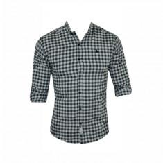Camasa barbati - Camasa Polo Ralph Lauren, Alba, din Bumbac, Carouri, Groasa, Toate Mas C324