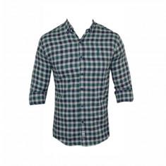 Camasa barbati - Camasa Polo Ralph Lauren, Gri, din Bumbac, Carouri, Groasa, Toate Mas C322