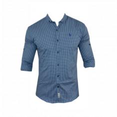 Camasa barbati - Camasa Polo Ralph Lauren, Eleganta, Bumbac, Carouri, Albastra, Toate Mas C326