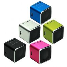 Boxe Telefon - Mini Boxa Portabila MUSIC ANGEL USB, Radio Fm, Suport TF, U-Disk - MD07U