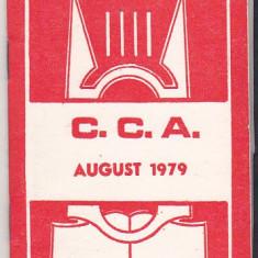 Bnk div Program activitati CCA august 1979