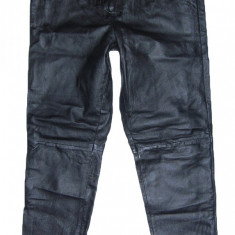 Pantaloni dama, Lungi, Piele - PANTALONI PIELE NATURALA - (MARIME: 32) - Talie = 81 CM / Lungime = 110 CM