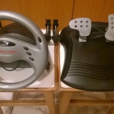 Volan simulator cu pedale Genius