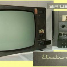 Televizor CRT - TV Sirius 208 televizor alb-negru functional perioada comunista, Epoca de Aur