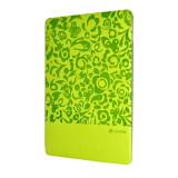 Husa iPad Air 2 Comma Charming Green (motiv floral embosat) - Husa Tableta