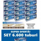 Ofertă! 6.600 Tuburi de tigari cu filtru maro TOBI 550 pentru injectat tutun