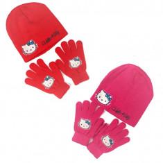 Set caciula si manusi Disney Hello Kitty pentru fete