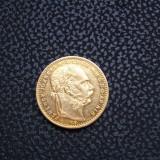 UNGARIA 8 FORINT\20 FRANCI 1886 AUR