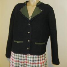 Sacou de lana costum popular german / costum tirolez masura 44 sau M/L - Costum populare, Bleumarin