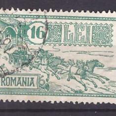 Timbre Romania - 1932 - Palatul PTT, caisorii, stampilat