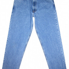 Blugi clasici CALVIN KLEIN - (MARIME: 32) - Talie = 82 CM, Lungime = 110 CM - Blugi barbati Calvin Klein, Culoare: Albastru, Prespalat, Drepti, Normal