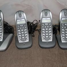 Telefon fix AEG d5500 quattro set DECT(wireless, fara fir), baza cu 3 sateliti
