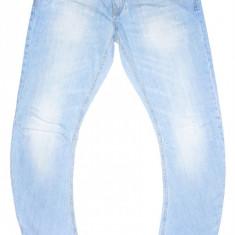 ZARA MAN - (MARIME: 34) - Talie = 93 CM, Lungime = 111 CM - Blugi barbati Zara, Culoare: Bleu, Cu rupturi, Slim Fit, Normal