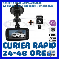 Camera video auto ZDM, 32GB, Wide, Single, Senzor imagine MP CMOS: 12, Full HD - CARD 8GB + CAMERA VIDEO DVR AUTO MARTOR ACCIDENT GS8000L, FULL HD 1080p, SENZ G