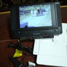 TOSHIBA SDP93DTWE - DVD/TV Portabil cu acumulator inclus - DVD Player Portabil, DivX