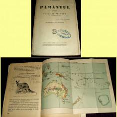 Carte veche - Simion Mehedinti - PAMANTUL pentru clasa a IV-a primara + 13 harti, manual 1930