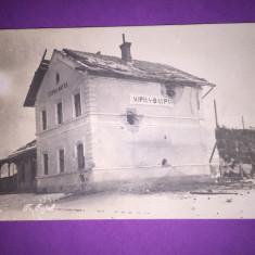 Bukowina - Vatra Dornei - Gara bombardata - Carte Postala Bucovina 1904-1918, Circulata, Fotografie
