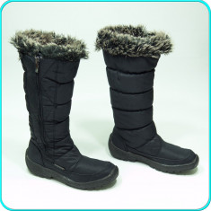 Cizme de iarna, calduroase, impermeabile, aerisite, ANTARCTICA _ femei | nr. 38 - Cizme dama, Culoare: Negru, Textil