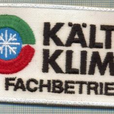 Uniforma militara - 144 -EMBLEMA -KALTE KLIMA FACHBETRIEB -FIRMA DE CLIMATIZARE -starea care se vede