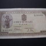 500 lei 1941 aprilie 2 filigran BNR orizontal #L/8