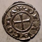 Moneda Medievala, Europa, An: 1299 - C.121 ITALIA ANCONA DENAR SEC. XIII ARGINT/BILLON 0, 7g/17mm