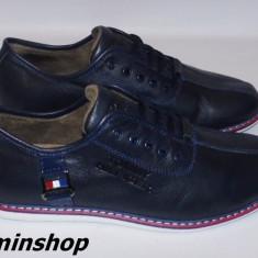 Pantofi barbati, Piele naturala - Pantofi TOMMY HILFIGER - 100% Piele Naturala - Alb / Bleumarin / Negru !!!