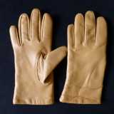 Manusi piele moale; marime estimata M, vezi dimensiuni exacte in a doua poza - Manusi Dama