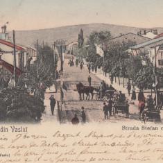 VASLUI MOLDOVA SALUTARI DIN VASLUI STRADA STEFAN CEL MARE, CIRC. AUG. ''904 - Carte Postala Moldova pana la 1904, Circulata, Printata
