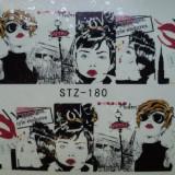 Tatuaj transfer pe baza de apa sticker pentru decorare unghii Full Tip STZ 180 - Unghii modele