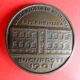 V- Placheta Institutul Cantacuzino 1921-1971, Rara! - Medalii Romania