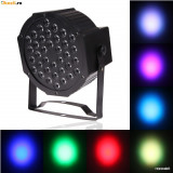 Proiector Scaner joc lumini DMX 7 canale Flat LED Par Light RGB 36 LED Ventilato