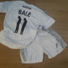 SET ECHIPAMENT COPII BALE REAL MADRID 9-10ANI (140) - Set echipament fotbal, Marime: Marime universala