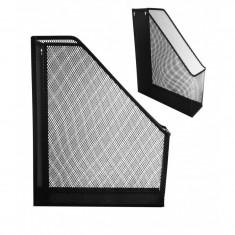 Suport documente vertical plasa metalica - Culoare: Alb (cod produs: KN-1324/A) - Masina de perforat
