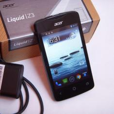 Vand Acer liquid Z3 negru, dual sim, cutie, incarcator, poze reale - Telefon mobil Acer, Negru, Neblocat, Dual SIM