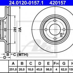 Disc frana SEAT IBIZA  1.5 i - ATE 24.0120-0157.1 - Discuri frana REINZ