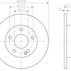 Disc frana MERCEDES-BENZ A-CLASS A 140 - TEXTAR 92091203 - Discuri frana fata Moto
