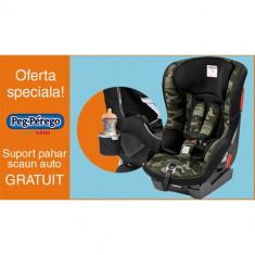 Scaun Auto Viaggio1 Duo Fix K + Suport Pahar PROMO Camo Green - Scaun auto bebelusi grupa 0+ (0-13 kg) Peg Perego