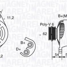 Generator / Alternator ALFA ROMEO 155 1.8 T.S. - MAGNETI MARELLI 063321858010 - Alternator auto