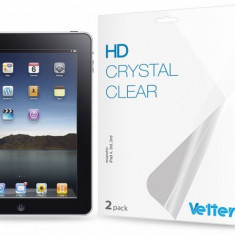 Folie protectie ecran iPad 4, 3rd, 2nd   2 bucati  HD Vetter - Folie protectie tableta