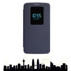 Husa LG Optimus G2 Nillkin Sparkle Smart View Neagra / Black - Husa Telefon