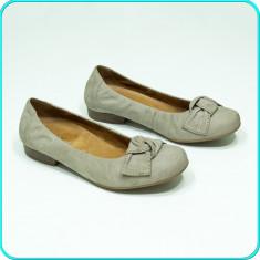 DE FIRMA _ Pantofi dama, piele, comozi, fiabili, calitate GABOR _ femei | nr. 38 - Pantof dama Gabor, Culoare: Gri, Piele naturala