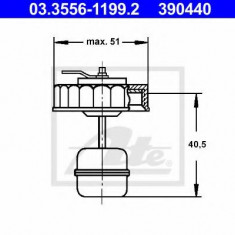 Buson, rezervor lichid de frana - ATE 03.3556-1199.2 - Buson lichid frana