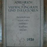 Carte de telefon si adrese ale oficialitatilor statului, Cehoslovacia, Iugoslavia, Austria, Romania si Ungaria 1936